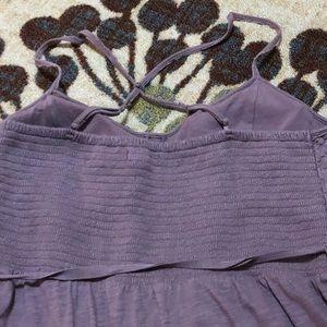 Purple, lace detail dress